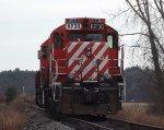 CP GP9u vacant on a siding