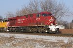 CP 8719 heads up a colorful train 298