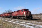 CP 9506 leads CP train 280 east