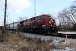 CP 8557 takes it solo on westbound train 299