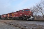 CP 8531 and a sister power EB unit grain train 372