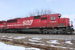 Engineer's side profile of SOO 6052 on (I think) CP 282