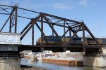 CSX 5483 leads the coal train across the KK River bridge