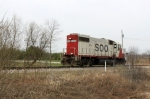 SOO 4405 returns east light