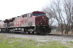 A typical pair of grungy AC4400CWs powers EB unit grain train 388
