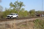 Hi-rail truck / can you spot the train?