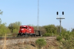 CP 4509 waits to take its pickup back to the yard