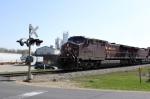 CP 9668 leads WB intermodal/autorack train 199