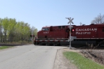 CP 8797 leads 498 across Wauona Trail