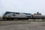 AMTK 835 shoves Hiawatha train 338 back south(RR east)bound