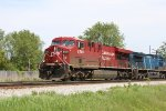 CP 8700 the class GEVO leads coke train 801 west