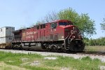 CP 9674 is the only power for EB intermodal 198