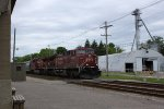CP 9832 and a sister power an eastbound manifest
