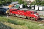 INRD 9005 leads EB coke loads train CP 800 past Grand Avenue