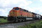 "BNSF 5650 leads a BN ""Executive"" 70MAC on westbound coal empties train 811"