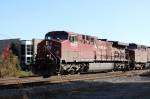 CP 8502 leads another AC4400CW westbound