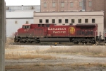 CP 9647 leads an eastbound manifest into the yard