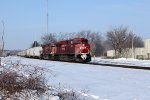 CP 8721 heads up an eastbound unit grain