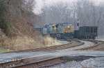 CSX 585 and 389