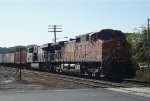 BNSF-NS power lead an Intermodal train