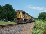 UP 6676 DPU on eastbound UP loaded coal train