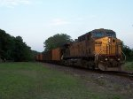 UP 6800 DPU on eastbound UP loaded coal train