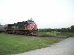 SP 309 DPU on eastbound UP loaded grain train