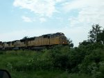 UP 4365 westbound UP intermodal train