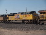 UP 8598 #2 power in a WB doublestack at 8:41am
