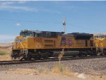 UP 8465 leads an EB doublestack at 11:12am