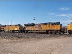 UP 8609 #3 power in a WB doublestack at 9:05am