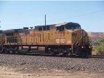 UP 7126 leads a WB grain train at 10:09am