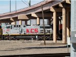 KCS 4597 #2 power in an EB doublestack (ZTUG4) at 10:00am