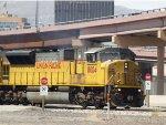 UP 8004 leads an EB grain train at 11:22am