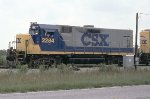 CSX 2284 leading a rock train
