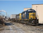 CSX 8240 & 8049 put their power to the rails as they lead Q334 through Sunnyside