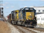 CSX 8029 & 7324 heads for Track 1 with Q334-04