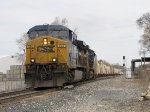 CSX 494 & 5119 roll over the Seymour switch with Q334-29