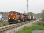 Led by BNSF power, Q335-18 rolls down Track 1 just past Seymour