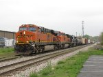 BNSF 6612 leads Q335-18 west into town