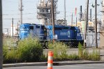 Conrail power in Conrail port reading yard