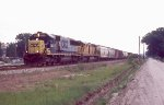 CSX SB freight with rent a wreck