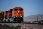 Three Very, Very Brand New ES44C4's pull a Hot Z westbound in the 100 plus Heat of the Arizona Desert.