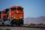 The BNSF 6722 leads her two Sister C4's (BNSF 6897 and BNSF 6719) in the 100 Degree Plus Heat towards BNSF Needles Depot, California as they pull a Hot Z in the Hot Arizona Heat.