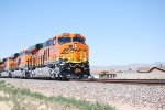 BNSF 6722 with her Sister C4's BNSF 6897 and BNSF 6719 head west towards Needles, CA for a crew change.