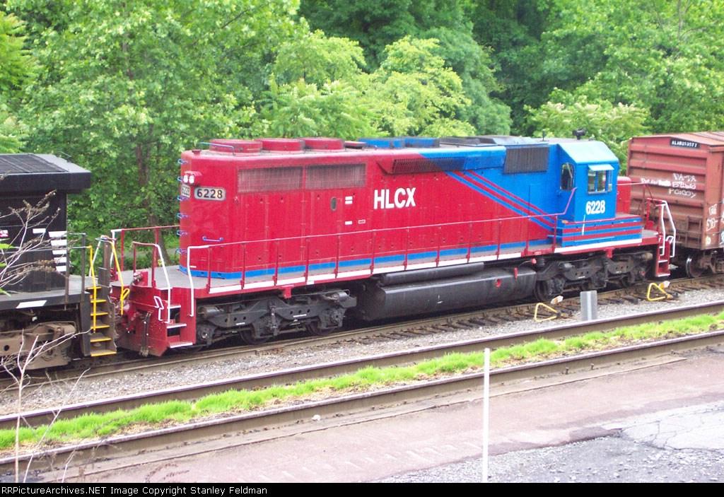 HCLX  6228 SD-40-2 in Norfolk Southern Allentown Yard.  06/06/2004