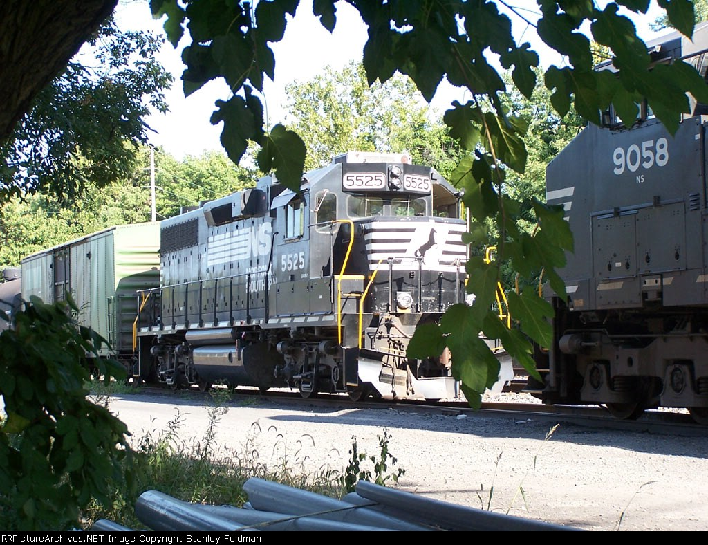 NS GP-32-2  5525 on the rear of a Local, on the Electric Company Siding.  9/11/2005