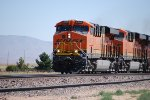 Two Brand New C4's BNSF 6701 and BNSF 6700 pull the grade.