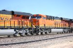 BNSF 6700 with BNSF 6700 lead units rear portion in the shot pass me by heading west with a Z.