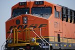 Zoomed in on BNSF 6711 Cab as she rolls east as the rearmost DPU on a eastbound Z Train.
